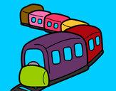 Dibujo Tren en camino pintado por ismail10