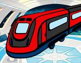 Dibujo Tren de alta velocidad pintado por dianita12
