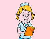 Dibujo Enfermera sonriente pintado por queyla