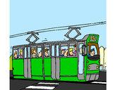 Dibujo Tranvía con pasajeros pintado por francisco3