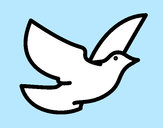Dibujo Paloma de la paz pintado por queyla