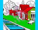 Dibujo Estación de tren pintado por sobeida