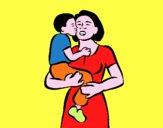 Beso maternal