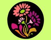 Dibujo Grabado con flores pintado por Mariadelca