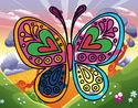 Dibujo Mandala mariposa pintado por celiacr411