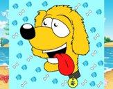 Perro con la lengua fuera II