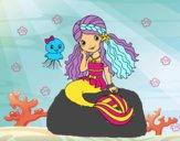 Dibujo Sirena y medusa pintado por Nikki-Airi