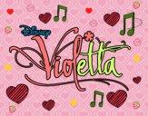 Dibujo Violetta logo pintado por miley15