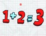 Dibujo 1+2=3 pintado por nurieta12