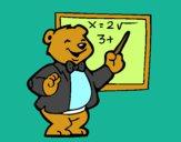 Dibujo Profesor oso pintado por branyely