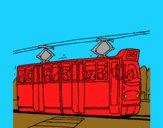 Tranvía con pasajeros