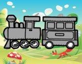 Dibujo Tren alegre pintado por anasalazar