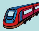 Dibujo Tren de alta velocidad pintado por queyla