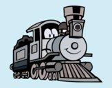 Dibujo Tren divertido pintado por queyla