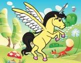 Dibujo Unicornio joven pintado por xiemn