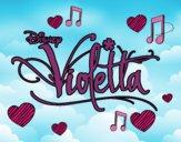Dibujo Violetta logo pintado por Yeric12