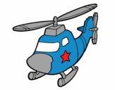 Dibujo Helicóptero con una estrella pintado por facutin