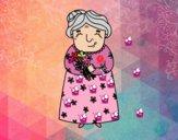 Dibujo Abuela pintado por emily789