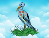 Cigueña y el nido