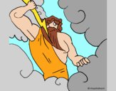 Dibujo Dios Zeus pintado por AnaStones