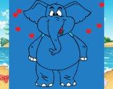 Elefante contento