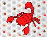 Escorpión con el aguijón levantado