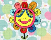 Dibujo Flor patchwork pintado por ojodehorus