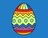 Dibujo Huevo de Pascua con estampados pintado por ojodehorus