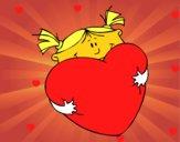 Niña y corazón