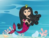 Dibujo Princesa sirena pintado por ojodehorus