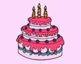 Dibujo Tarta de cumpleaños pintado por natachita8