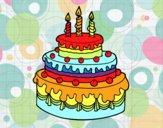 Dibujo Tarta de cumpleaños pintado por ojodehorus