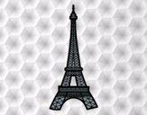 Dibujo Torre Eiffel pintado por valeterry
