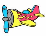 Avión con llamas