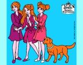 Barbie y sus amigas en bata