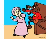 Dibujo Caperucita roja 9 pintado por Dhanys