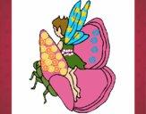 Dibujo Duende y mariposa pintado por Anto05