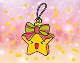 Dibujo Estrella navideña pintado por nalia