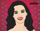 Dibujo Katy Perry primer plano pintado por elenaya283