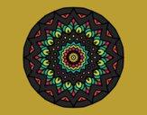 Dibujo Mandala creciente pintado por blanca