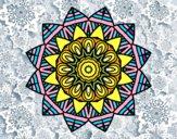 Dibujo Mandala frutal pintado por luisanick