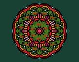 Dibujo Mandala modernista pintado por blanca