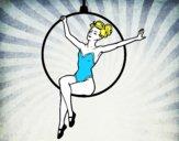 Mujer trapecista