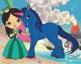 Princesa y unicornio