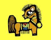 Dibujo Signo del Caballo pintado por ojodehorus