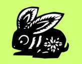Dibujo Signo del conejo pintado por ojodehorus
