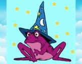 Dibujo Mago convertido en rana pintado por esmelu