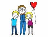Dibujo Padre e hijos pintado por ashleeth