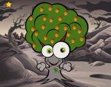Dibujo Árbol con cara pintado por queyla
