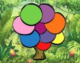Dibujo Árbol con hojas redondas pintado por queyla
